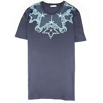 Versace Collection Girocollo Print T Shirt Navy