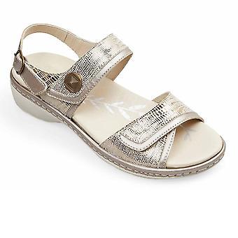 Padders Grazia Womens Wide Fit Sandals