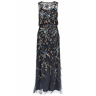 Kwiatowa suknia z cekinami Blouson