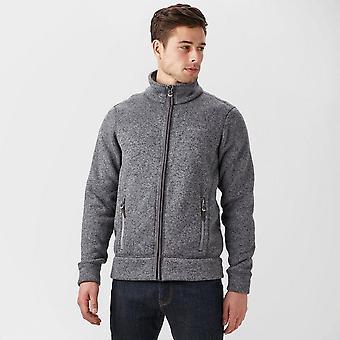 Brasher Men's Rydal II Walking Hiking Casual Full Zip Fleece Jacket Grey