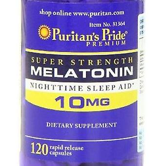 Free Shipping Melatonin 10 Mg-120 Caps Night Time Sleep Aid