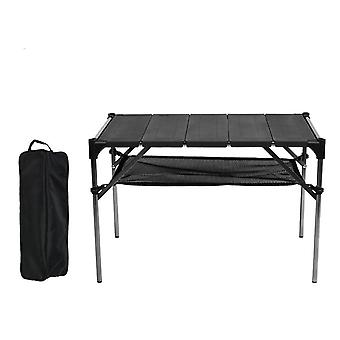 Camping Barbecue Table Stitched Assembled Aluminum Plate Table