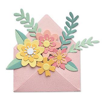Sizzix Thinlits Die Set - 12pk Flowers W/ Envelope 665078 Jennifer Ogborn