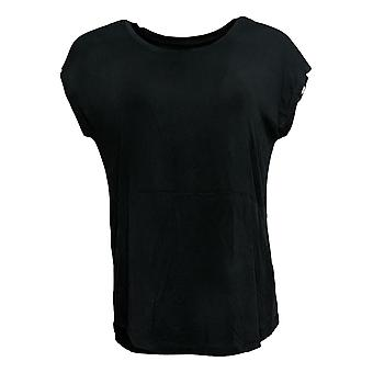 Cuddl Duds Women's Top Stretch Soft Wear Black A381689
