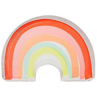 Meri Meri Neon Rainbow Paper Plates x 12 Partyware