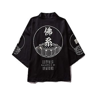 Cardigan Shirt Blouse Yukata Men Obi Clothes Samurai Clothing Male Kimono