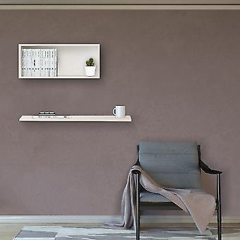 Felicita Shelf White Color i Melamine Chipboard, L45xP18xA30 cm, L80xP18xA1.8 cm