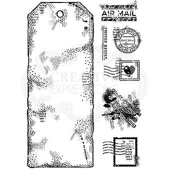 Woodware Clear Singles Large Postal Tag 4 in x 6 in Stamp