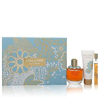 Girl Of Now Gift Set par Elie Saab 3 oz Eau De Parfum Spray + 2,5 oz Lotion pour le corps + 0,33 oz Mini EDP Spray