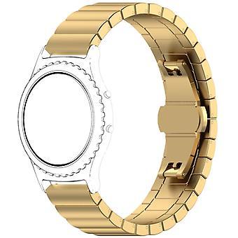 Για το ρολόι γαλαξιών 46mm λουρί ανοξείδωτου πόρπης πεταλούδων (χρυσός)