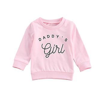 Baby Sweatshirt Top Letter Print Long Sleeve Hoodies Outwear Sweatshirt