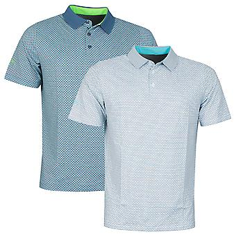 Callaway Golf Mens 2021 All Over Chev Grid Wicking Stretch Polo Shirt