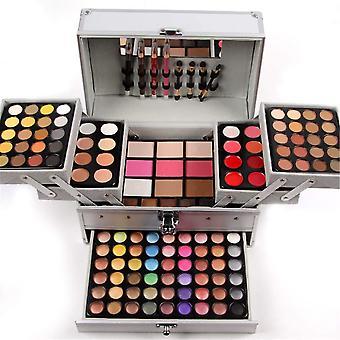JasCherry 132 Farben Lidschatten Make-up Paletten Mischen Matt und Schimmer mit Lipgloss, Concealer,