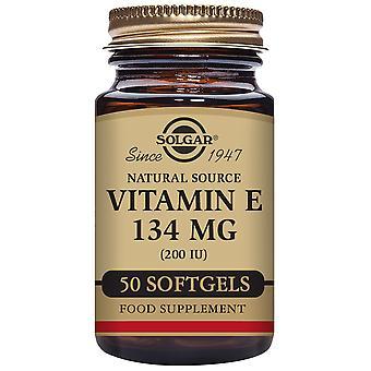 Solgar vitamiini E 200 IU 250 kasvissyöjä Softgels