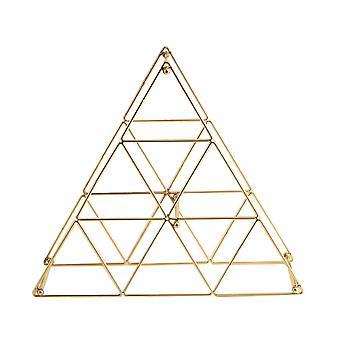 Металлические вина Стойка, Countertop Винная бутылка держатель, пирамиды формы Дизайн для хранения вина