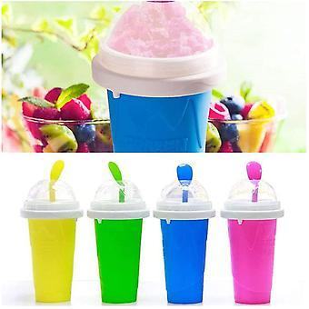 Quick-frozen Smoothies Cup Newly Durable Slush Ice Cream Maker Squeeze Slush Quick Cooling Cup Milkshake Bottle