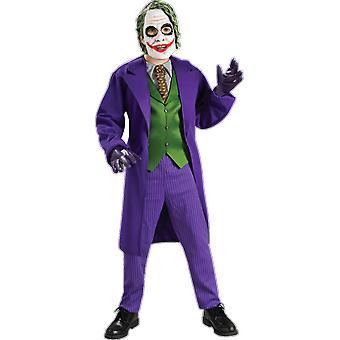 Boys Age 3 - 10 Years Joker Costume Villain Halloween Batman Fancy Dress