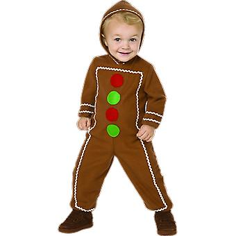 Orion kostuums Kids Gingerbread Man Christmas Fairytale boek dag fancy dress