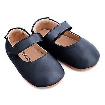 SKEANIE Leather Mary-Jane Pre-walker Shoes in Navy Blue