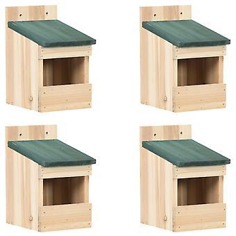casas de pássaros vidaXL 4 pcs. 12x16x20 cm madeira de abeto