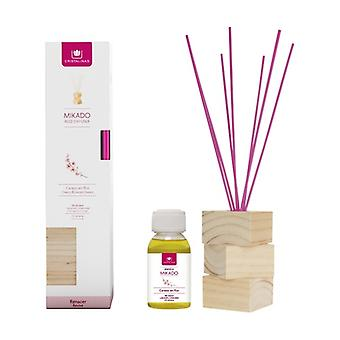 Complete kit natural wood cherry blossom canes + essence + wood base 2 units