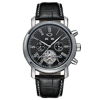 Jaragar Full Calendar Tourbillon Auto Mechanical Mens Watch