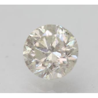 Sertifioitu 1,06 karat H SI1 pyöreä brilliant parannettu luonnon timantti 6.23mm 3VG