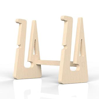 Wood Laptop Holder Increased Height Storage Stand For Macbook 13 15 Inch