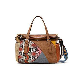 Desigual Fabric Hand Bag. Woman, White, U(3)