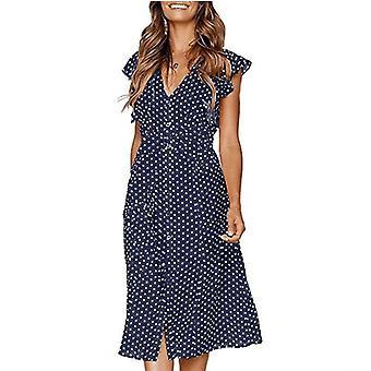 Polka Dot Dress For Women Office Midi Dress