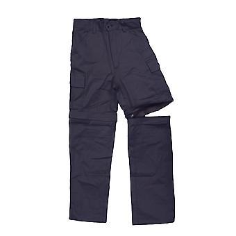Kids Zip Off Cargo Combat Trousers Children