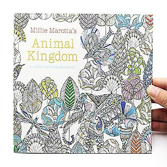 Animal Kingdom English Edition Coloring For, Adult Relieve Stress, Kill Time,