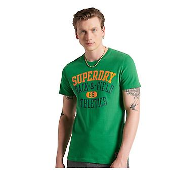 Superdry Track and Field Graphic Tee Verde