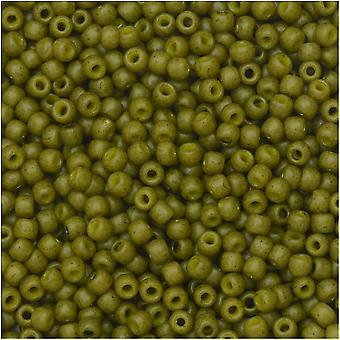 Tohon siemenet, pyöreä 11/0 puolilasi, 8 gramman putki, oliivi
