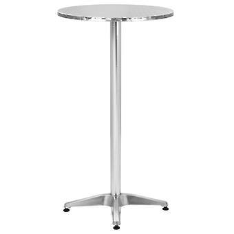 vidaXL Opvouwbare Tuintafel Zilver 60x(70-110) cm Aluminium