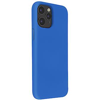 Back Cover For Apple iPhone 12 / 12 Pro Semi-rigid Soft Touch Compatible QI blue
