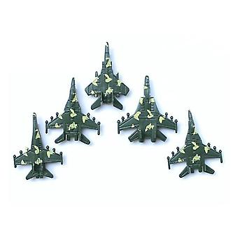 New 5pcs Army Figures War Playset Simulation Planes For Boys ES12774