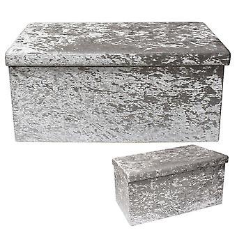 Large Light Grey Velvet Folding Box