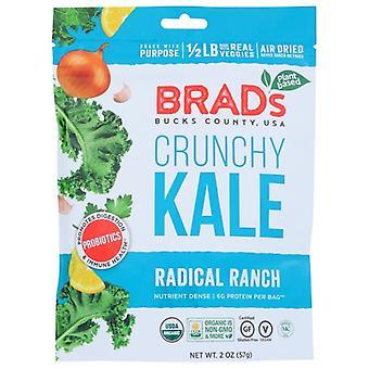 Brads Plant Based Kale Crunchy Ranch W Pro, Cas de 12 X 2 Oz