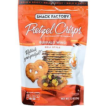 Snack Factory Bretzel Crisp Bfflo Wng, Cas de 12 X 7,2 Oz