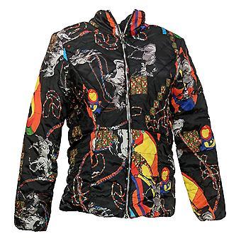 Kvinder med Control Women's (XXS) Reversibles Puffer Jacket Sort A389582