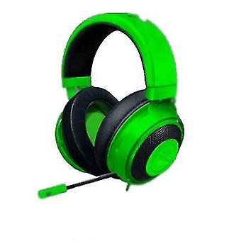 Ultralight Gaming -kuulokkeiden integroidut äänisäätimet taivutettava kardioidimikrofoni (vihreä)