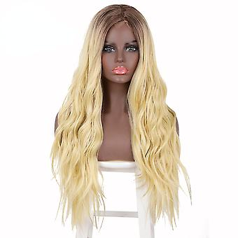 Synthetic wigs long wavy wigs middle part blonde wig cosplay natural heat resistant synthetic wigs for women