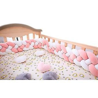 3m Braided Knotted Anti-collision Fence Bed Perimeter(Pink)