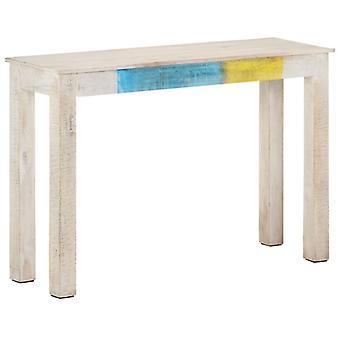 vidaXL konsolipöytä valkoinen 115x35x77 cm Karkea mangopuu