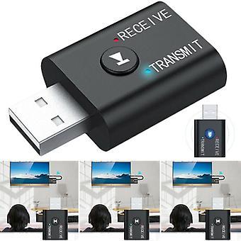 Auto audio-ontvanger zender - USB Bluetooth 5.0 - 2 in 1 tv-computer luidspreker