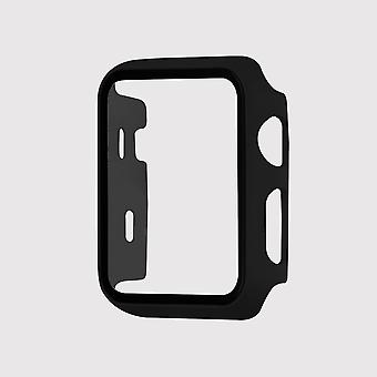 Tempered glass apple watch protective case, black (42mm)