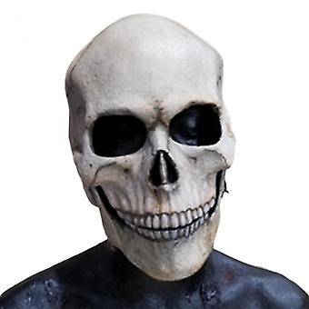 Full Head Skull Face-cover/helmet With Movable Jaw Halloween Darkness Face-cover For Party Bar And