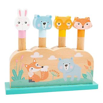 Small Foot Children's Forest Animal Pastel Colours Plug-in Shape Fitting Game