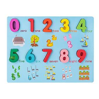 Värikäs numerokirjaimin geometria muodon kognitio grasp board